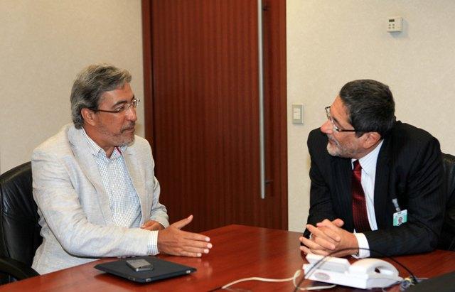 Governador Marcelo Déda reúne-se com o presidente da Petrobras para tratar de interesses de Sergipe