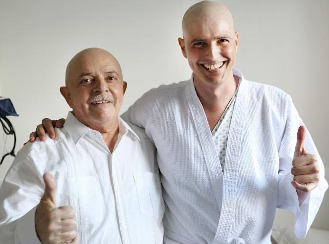 Lula visita Reynaldo Gianecchini no hospital em São Paulo