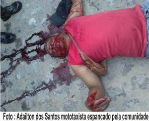 Mototaxista preso por tentativa de homicídio