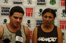 Polícia sergipana apresenta casal acusado de tentativa de latrocínio em São Paulo