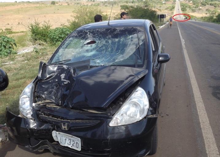 Colisão entre carro e motocicleta deixa uma jovem morta e outra gravemente ferida em Carira, SE