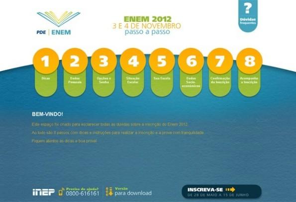 Prazo de inscrição para o Enem 2012 termina às 23h59 desta sexta-feira
