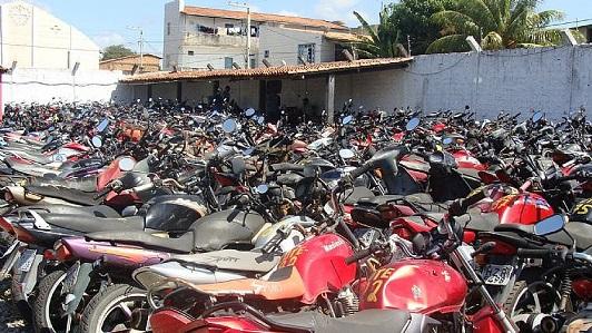 Detran leiloará 328 veículos nesta segunda-feira