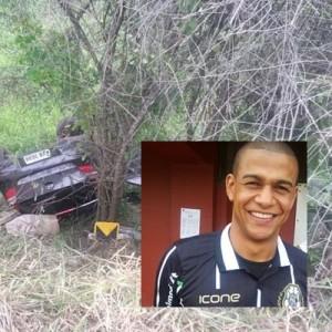 Jancarlos foi socorrido pelas equipes do Corpo de Bombeiros, mas morreu a caminho do hospital. (Foto: Ariane Nascimento/Tribuna de Petrópolis e Globo Esporte)