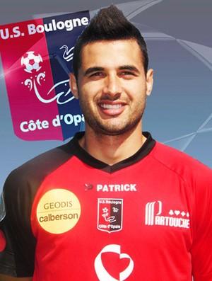 Maurício Alves com a camisa do Boulogne  (Foto: Site Oficial)
