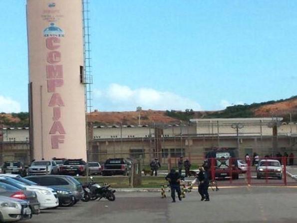 Sindipen emite nota sobre rebelião no presídio do Santa Maria. (Foto: Rafael Carvalho/TV Sergipe)