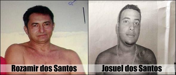 Ciganos acusados de duplo homicídio registrado em Aquidabã.(Foto: Reinaldo Gasparoni/SSP/SE)