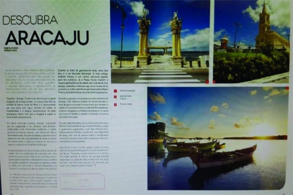 Aracaju é destaque em revista de bordo da Avianca