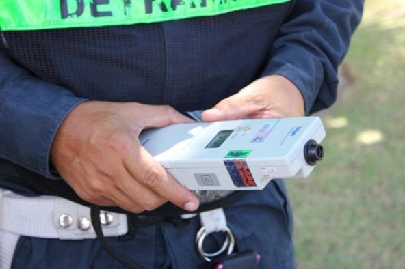 Bafômetro utilizado em blitz. (Divulgação/PM/SE)