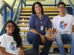 Giulia Pereira, 16, e Ricardo Fonseca, 18 anos, embarcam neste sábado, 30, para participar de um intercâmbio de língua inglesa de 15 dias, na cidade de Denver, no Colorado (EUA). (Foto: Unicom/FIES)