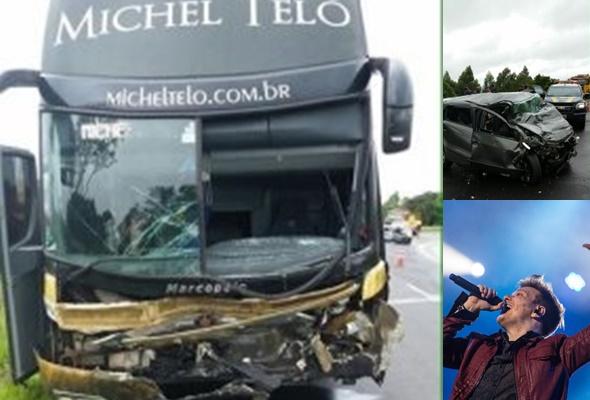 Ônibus de Michel Teló se envolve em batida com três mortes