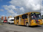 Ônibus lotados e falta de pontualidade estão entre as   reclamações da população. (Foto: Katherine Coutinho/G1)