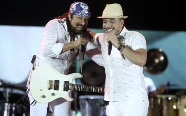 Wesley Safadão e Bel faz participação especial no DVD de Bell Marques. (Foto: Fabio Cunha/Divulgação)