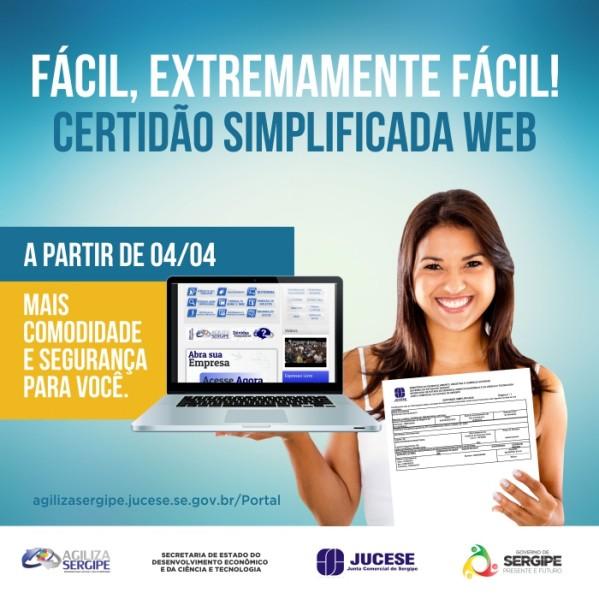 Com sistema online, Jucese facilita emissão de certidão simplificada
