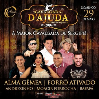 A cavalgada terá á saída da Fazenda Riacho Dantas em destino a Praça de Eventos da cidade, onde acontecerá shows musicais.