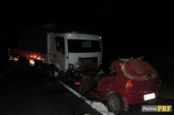 A colisão foi entre um veículo e um caminhão em Cristinápolis (Foto: PRF/SE)