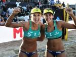 Sancristovense e capixaba superaram Juliana e Taiana na final. (Foto: FIVB)