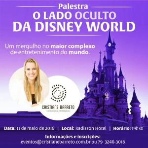"""Palestra """"O Lado Oculto da Disney World"""" com Cristiane Barreto. (Foto: Divulgação)"""