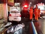 Duas vítimas morreram no acidente (Foto: whatsapp grupo CPTran)