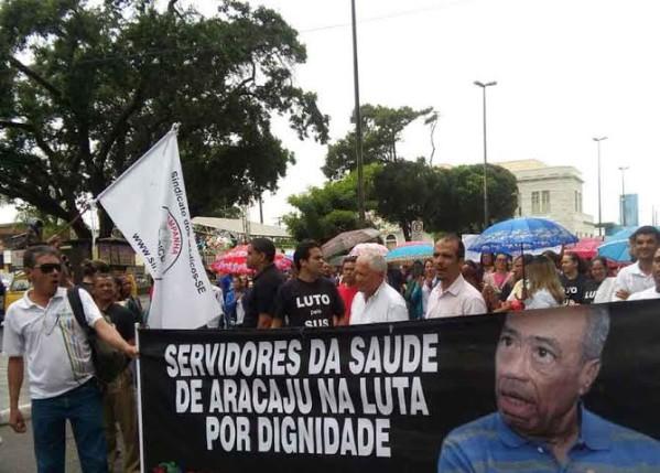 Servidores da Saúde farão manifestação sexta-feira na Prefeitura de Aracaju. (Foto; ascom/Sintasa)