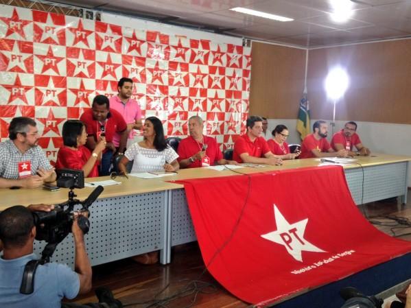 PT realizou encontro neste sábado em Aracaju. Foto: Twetter/Rogério Carvalho)