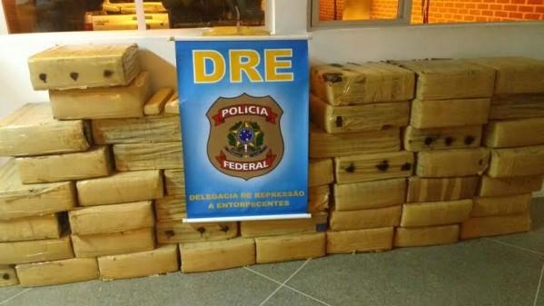 cerca de uma tonelada de drogas foi apreendida em julho em Sergipe (foto: arquivo/PF/SE)
