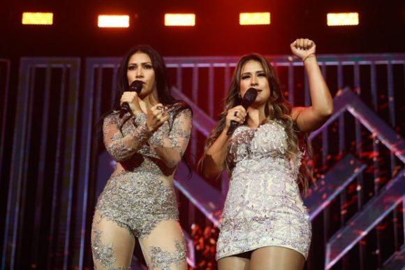 Simone e Simaria em show em São Paulo (Foto: Manuela Scarpa/ Brazil News)
