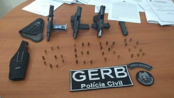 Polícia apreendeu três pistolas na residência de empresário no Mosqueiro*
