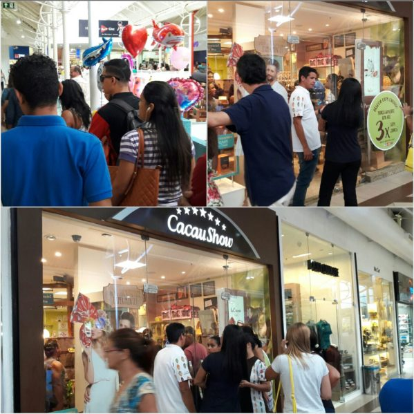 Filas demoradas e lojas cheias marcam as compras de última hora para a Páscoa (foto: SE Notícias)