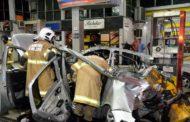 Imagens impressionantes mostram explosão de carro que matou uma mulher no Rio de Janeiro