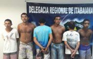 Polícia Civil apresenta envolvidos em crimes de tráfico de drogas e roubos em Itabaiana