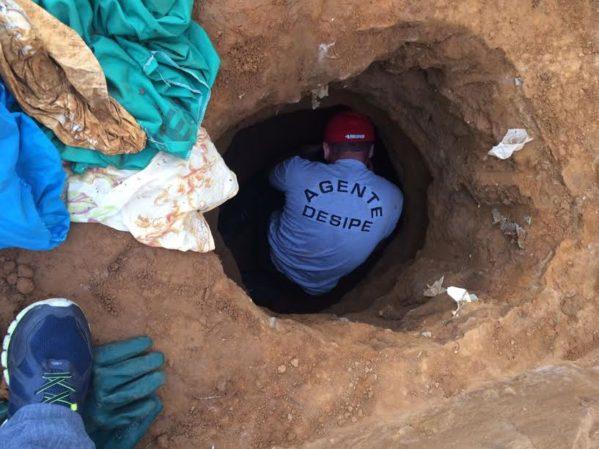 Túnel foi descoberto durante vistoria. (Foto: Divulgação/Sejuc)
