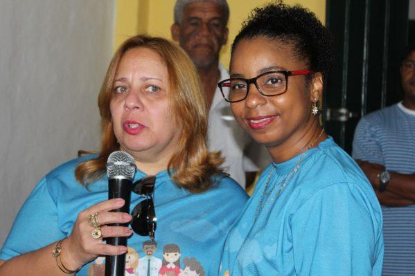 A secretária de saúde, de São Cristóvão, Joélia Silva, abriu neste sábado nesse(13), o Dia de Mobilização Nacional da Campanha de vacinação contra a gripe. (Foto: ascom/PMSC)