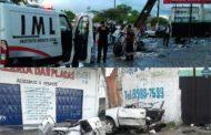 Carro parte ao meio e homem morre em acidente na Tancredo Neves; assista