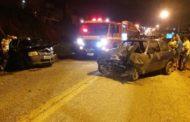Colisão entre dois veículos deixa quatro feridos na Rodovia João Bebe Água