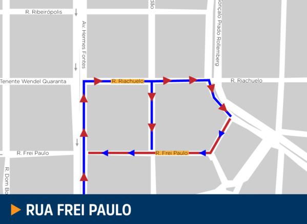 Em Aracaju, ruas Frei Paulo e Gararu terão sentido único a partir do dia 30