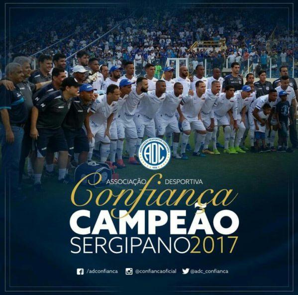 O Confiança sagrou-se campeão do Campeonato Sergipano, no Estádio Etelvino Mendonça, ao vencer o Itabaiana por 1 a 0.