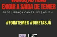 Sergipe terá protestos pedindo a saída do Presidente Temer nesta quinta-feira