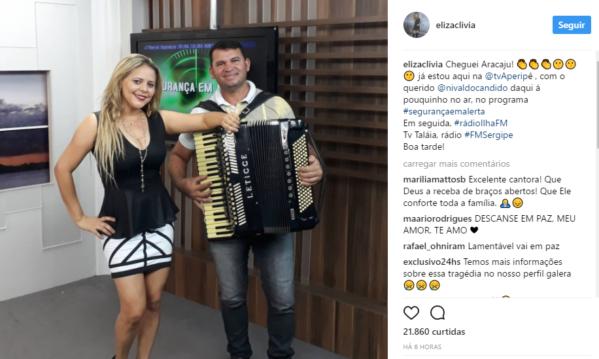 """Eliza Clívia publicou uma foto com a leganda: """"Na estrada agora a caminho de Aracaju/SE... vou rever e matar a saudade do meu povo querido e amado!"""". (Foto: Reprodução/Instagram)"""