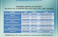 NAT abre inscrições para oficinas de qualificação profissional