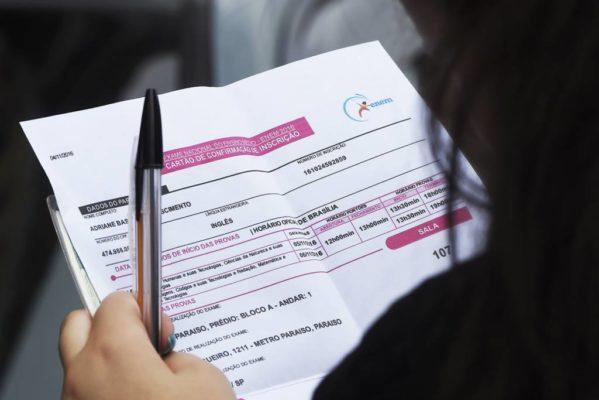 Candidatos podem apresentar recurso para gratuidade no Enem até domingo