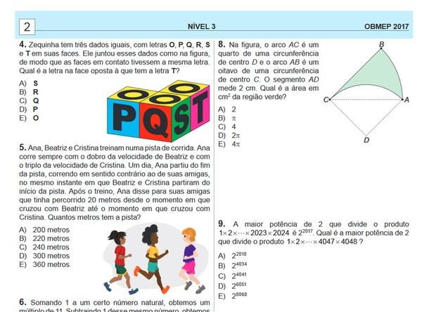 Estudantes já podem acessar o gabarito da Olimpíada Brasileira de Matemática