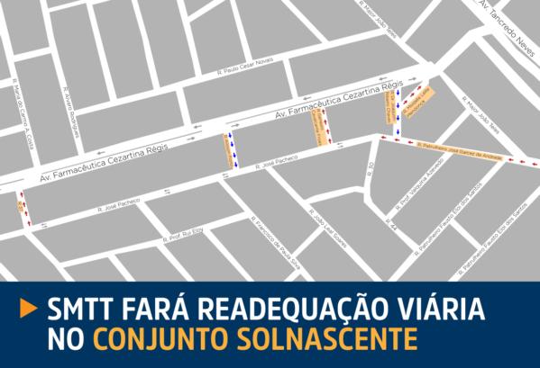 SMTT Aracaju fará readequação viária no Conjunto Sol Nascente