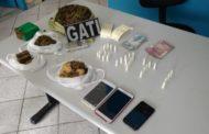 Suspeitos de tráfico de drogas são presos em Capela