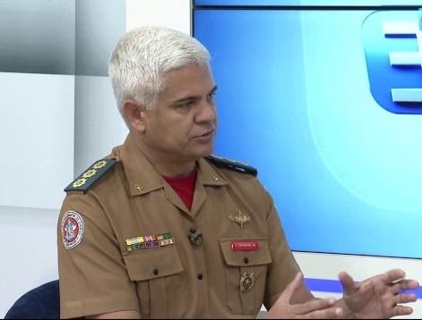 O coronel BM José Erivaldo Mendes toma posse no lugar deixado pelo coronel BM Eduardo Carlos Santos Pereira. (Foto: reprodução a8SE)