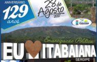 Prefeitura de Itabaiana divulga programação de Emancipação Política