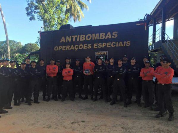 Atividade é a última etapa do curso ministrado pelas equipes do BOPE da Bahia voltado para atuação de forma técnica e segura em ocorrências que envolvam esses artefatos