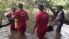 Corpo de Bombeiros busca vítimas de naufrágio em RoraimaAssessoria de Imprensa/Corpo de Bombeiros RR