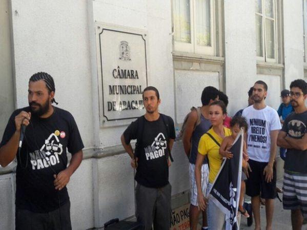 Movimento Não Pago fará manifestação contra o aumento da passagem de ônibus