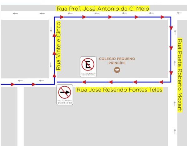 rua José Rosendo Fontes Teles, no bairro Jabotiana, passará a ter sentido único das 6h da manhã às 18h